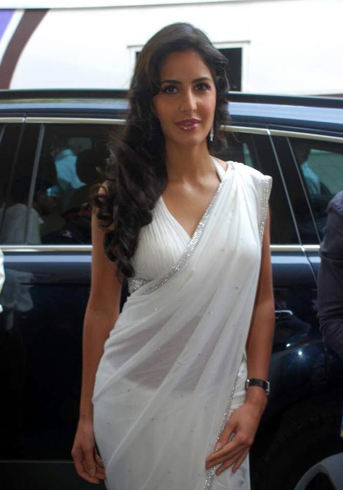Katrina Kaif In White Transparent Saree Stills, Pics -6113