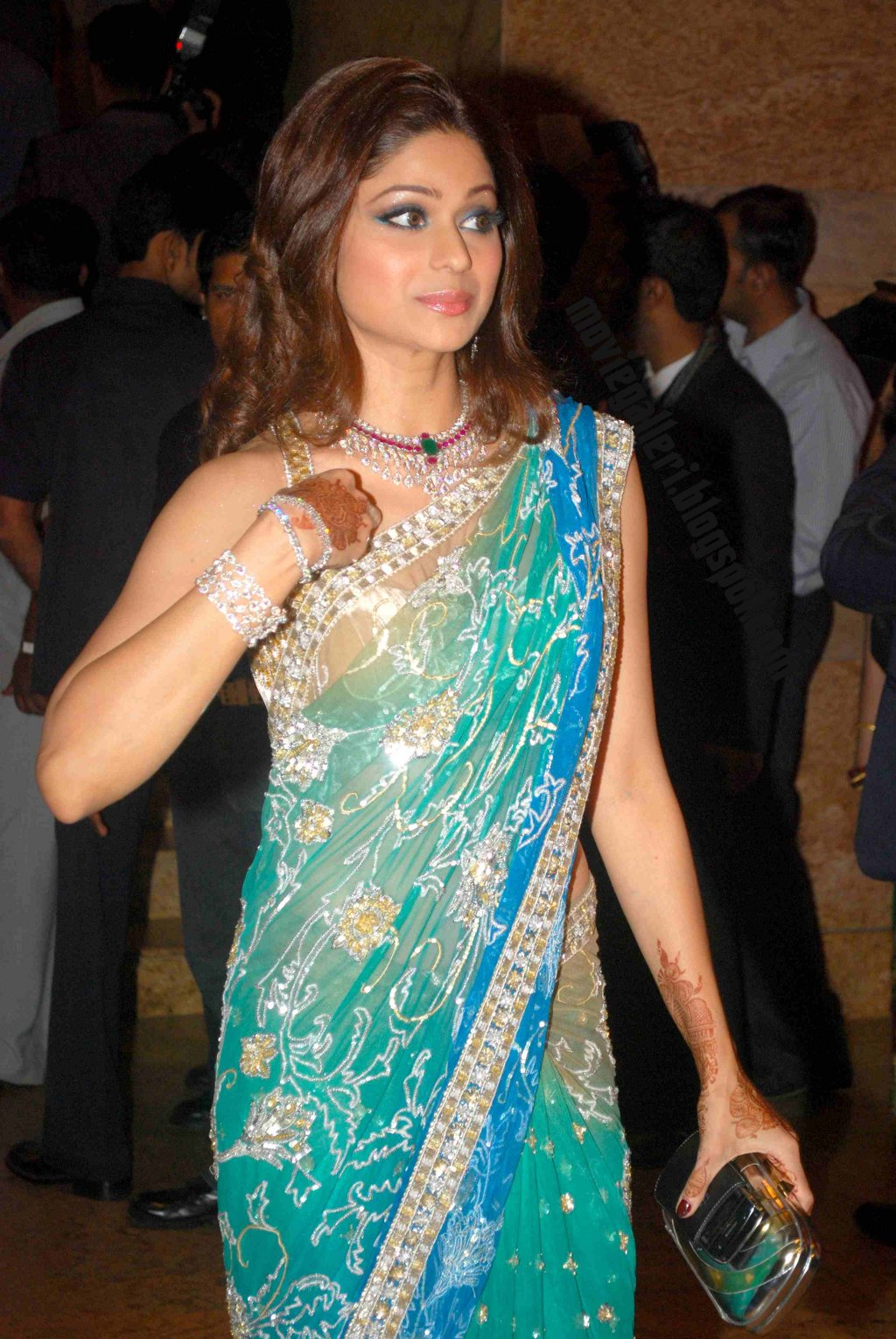 Shamita Shetty Hot In Shilpa Shetty Marriage Reception Hq -6597